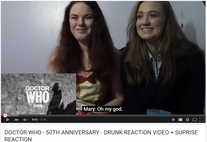 Drunk reaction video